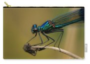 Banded Demoiselle Damselfly. Carry-all Pouch