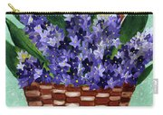 Basket Of Hyacinths  Carry-all Pouch