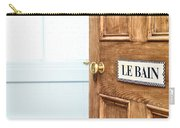 Bathroom Door Carry-all Pouch by Tom Gowanlock