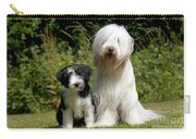 Bearded Collie And Puppy Carry-all Pouch