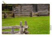 Beautiful Autumn Scene Showing Rustic Old Log Cabin Surrounded B Carry-all Pouch