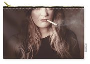 Beautiful Blond Army Pinup Girl Smoking Cigarette Carry-all Pouch