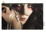 Beautiful Female Fashion Model In Luxury Jewellery Carry-all Pouch