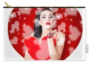 Beautiful Girl In A Bright Love Romance Carry-all Pouch