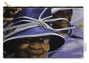 Beautiful Ladies In Purple Hats Carry-all Pouch