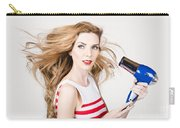 Beautiful Model Hair Styling Long Red Hairstyle Carry-all Pouch