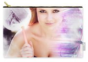 Beautiful Woman In Flight Of Fantasy Carry-all Pouch