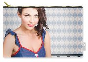 Beautiful Young Brunette Pin-up Woman  Carry-all Pouch