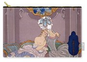 Bedroom Scene Carry-all Pouch by Georges Barbier