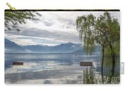Bench With Trees On A Flooding Alpine Lake Carry-all Pouch