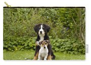 Bernese Mountain & Jack Russell Puppies Carry-all Pouch
