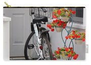 Bicycles And Geraniums Carry-all Pouch