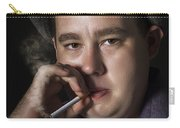 Big Mob Boss Smoking Cigarette Dark Background Carry-all Pouch