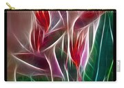 Bird Of Paradise Fractal Carry-all Pouch by Peter Piatt