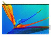 Bird Of Paradise With Blue Background Carry-all Pouch