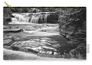 Black And White Cascade Carry-all Pouch