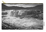 Black And White Waterfall Carry-all Pouch