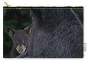 Black Bear With Cub Carry-all Pouch