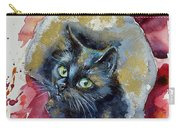 Black Cat In Gold Carry-all Pouch