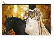 Black Russian Terrier Art Canvas Print Carry-all Pouch
