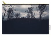 Black Silhouette Trees In Spooky Tasmanian Forest Carry-all Pouch