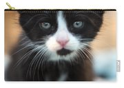 Black And White Kitten Carry-all Pouch