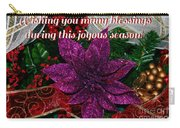 Blessings Christmas Card Carry-all Pouch
