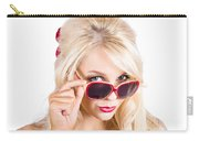 Blond Woman In Sunglasses Carry-all Pouch