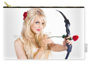 Blond Woman With Cupid Bow Carry-all Pouch