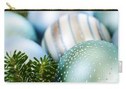 Blue Christmas Ornaments Carry-all Pouch