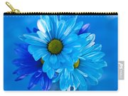 Blue Daisies In Vase Outdoors Carry-all Pouch