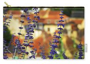 Blue Flowers And Rooftops In Sarlat Carry-all Pouch