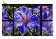 Blue Hibiscus Fractal Carry-all Pouch by Peter Piatt