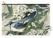 Blue Jays And Blossoms Carry-all Pouch
