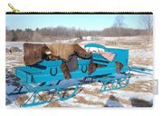 Blue Sleigh Carry-all Pouch