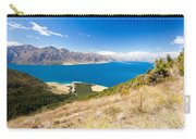 Blue Surface Of Lake Hawea In Central Otago In New Zealand Carry-all Pouch