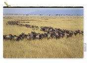 Blue Wildebeest Migrating Masai Mara Carry-all Pouch