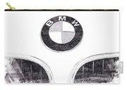 Bmw Z3 Emblem In Black Carry-all Pouch