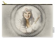 Boating Pin-up Woman On Nautical Shipping Voyage Carry-all Pouch