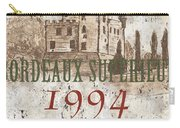 Bordeaux Blanc Label 2 Carry-all Pouch