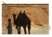 Bou Bou Camel With Beduin Owner  Carry-all Pouch