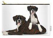Boxer Pups Carry-all Pouch by Mark Taylor