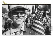 Boy Scout Veteran's Day Parade Tucson Arizona 1990 Black And White Carry-all Pouch