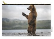 Brown Bear In River Kamchatka Russia Carry-all Pouch