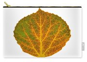Brown Green Orange And Yellow Aspen Leaf 1 Carry-all Pouch