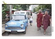Buddhist Monks In Yangon Street Myanmar Carry-all Pouch