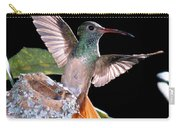 Buff-bellied Hummingbird At Nest Carry-all Pouch