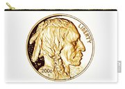 Buffalo Nickel Carry-all Pouch by Fred Larucci
