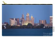 Buffalo Skyline From Fort Erie At Dusk Carry-all Pouch