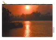 Bushfire Sunset Over The Lake Carry-all Pouch